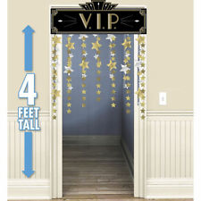 Hollywood Party Entrance Awards VIP Gold Stars Door Curtain Decoration