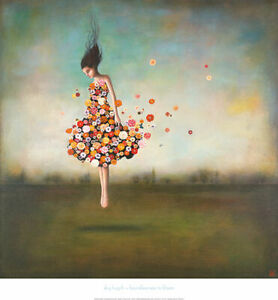 Boundlessness in Bloom by Duy Huynh Art Print Poster Woman Fantasy Girl 26x28