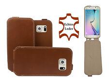Hama Echtleder Flip Case Samsung Galaxy S6 Braun Handytasche Handyhülle Cover