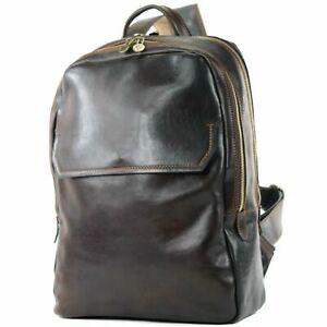 italienischer Herren Rucksack Business Aktentasche hochwertiges Leder 210A