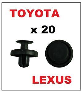 20 x PUSH RIVET for TOYOTA / LEXUS - Bumper Wheel Arch Lining Trim Clips