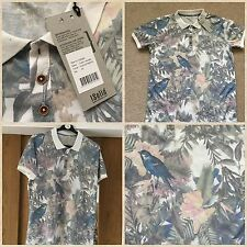 Polycotton Short Sleeve Floral Casual Shirts & Tops for Men