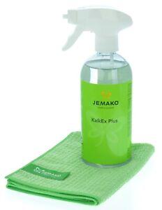 Jemako Set - KalkEx Plus 500 ml - Profituch klein (35 x 40 cm) inkl. Sprühpumpe