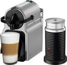 NESPRESSO Inissia Espresso Machine Milk Frother Breville Silver 16 Capsules New
