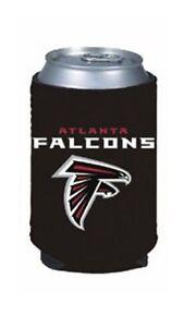 ATLANTA FALCONS BLACK NEOPRENE CAN DRINK COOLER HOLDER WITH TEAM LOGO