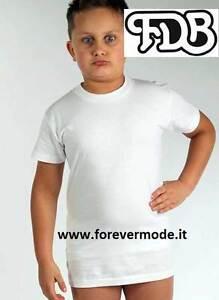 3 Maglie da bambino FDB manica corta a girocollo in jersey di cotone art 026