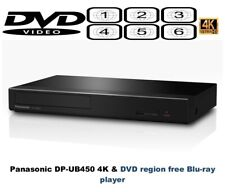 Panasonic DP-UB450 Ultra 4K HD HDR+ Multi Region Free DVD 1-6 Blu-ray player