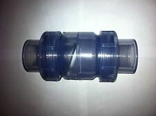 AQUARIUM PLUMBING True Clear Union Check Valve 1/2 INCH Slip x Slip