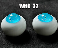 18MM Special Blue No Pupil Glass BJD Eyes for DOD DZ AOD Volks Reborn Doll luts