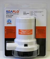 All New SEAFLO Marine Bilge/Sump Pump 2000GPH 12v Unlike Rule 4 Year Warranty