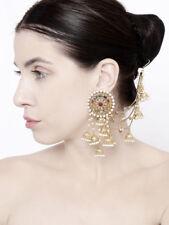 Indian Bollywood Fashion Jewelry Bahubali Earrings With Jhumki Kaan Chain Diwali
