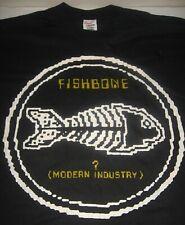 Vintage 1985 Fishbone XL T-Shirt (? MODERN INDUSTRY) RARE Punk Ska Single Stitch