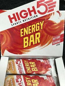 25 x High 5 Sports Nutrition Energy Bar Banana Flavour