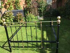 More details for an original victorian brass and iron king size bed