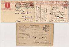 3 POSTKARTE CARTE POSTALE SUISSE SWISS.CHAUX DE FONDS ZURICH ..1891 à 1913 L982