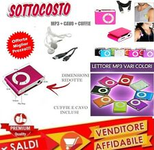 Mini Lettore MP3 Player con Clip USB ideale per lo SPORT Supporta 8GB Micro SD