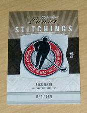 2010 OPC Premier Stitchings patch Rick Nash 91/199