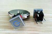 3pcs Blue Led Square 7.5mm Cap POWER 12V Momentary Tact Push Button Switch