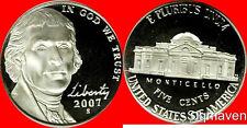 2007 S Jefferson Nickel Deep Cameo Gem Proof No Reserve