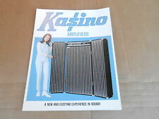 VINTAGE MUSICAL INSTRUMENT CATALOG #10010 -1970 KUSTOM KASINO AMPLIFIERS