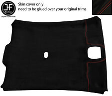 RED STITCH ROOF LINING HEADLINING LUXE SUEDE COVER FOR JAGUAR X-TYPE 01-09