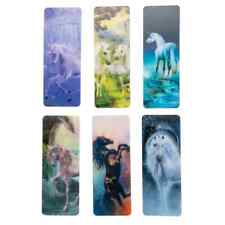 Lenticular 3D Effect Unicorn Bookmarks Office School Stationary Supplies 6PC Set