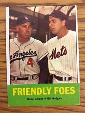 1963 Topps Baseball Card #68 Gil Hodges Duke Snider Friendly Foes VG-VGEX HOF