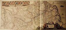 Historische Landkarte Rhein Rheinverlauf 1658 Janssonius