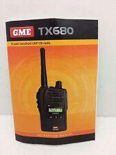 Globe Roamer GME TX680 Instruction Manual