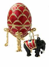 Copie oeuf de Fabergé rouge avec l'Éléphant