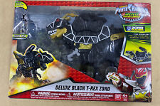 Power Rangers Dino SuperCharge Deluxe Black T-Rex Zord Builder New In Box
