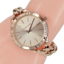 267689e4b7fba Michael Kors Damen Uhr MK3223 Slim Runway Rosegold Edelstahl Ketten Armband