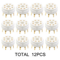 12PCS 8PIN TUBE SOCKET VALVE BASE For KT88 EL34 5881 6CA7 5AR4 6SL7 PCB MOUNT
