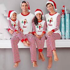 Weihnachten Familie Pyjama Set Damen Herren Kinder Xmas Nachtwäsche Schlafanzug