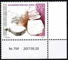 LITHUANIA 2017-10 Culinary: Curd Cheese. Requisites-CORNER, MNH