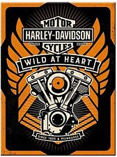 Harley Davidson Wild At Heart metal fridge magnet (na)