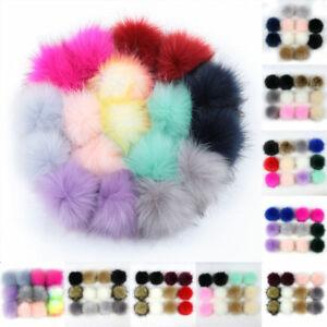 12 Pcs/pack 8cm DIY Pompom Balls Faux Fur Ball For DIY Pom Pom Hats Accessories