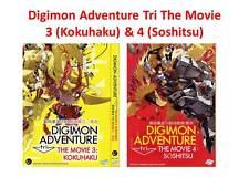 DVD Anime Digimon Adventure Tri The Movie 3 (Kokuhaku) & 4 (Soshitsu) Eng Sub