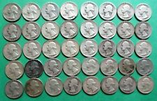 1- FULL MIXED ROLL OF 40 WASHINGTON SILVER QUARTERS. $10.00 FACE VALUE. #17