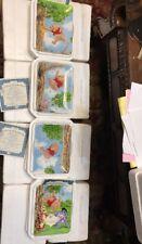 Winnie the Pooh Bradford Exchange Falling for Honey-complete set of 4 Plates NIP