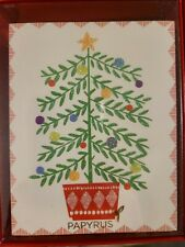 Papyrus Holiday Christmas Cards Boxed Tree Under Moon 20-Count NIB New