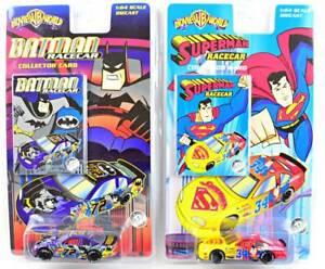 Batman Racecar & Superman Racecar - 1:64 DieCast - WB Movie World