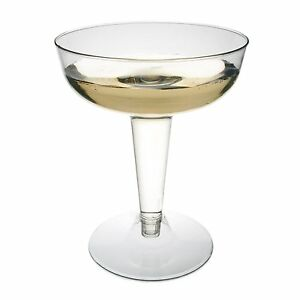 Plastic Wine Glasses Champagne Wedding Party Disposable Clear Toasting Cup x156