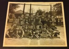 VINTAGE RAUPP SCHOOL BASEBALL PHOTO 8X10 BLACK AND WHITE WITH SIGNATURES