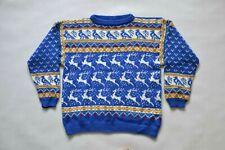 UNISEX Norweger Jumper  Pullover Gr. L/XL Wolle