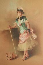 Chromolithographie Maison Testu & Massin, Champenois Paris 1880 jeune femme