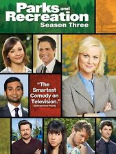 Parks and Recreation: Season Three (DVD, 2011, 3-Disc) Amy Poehler Aziz Ansari