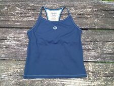 Good Tech Life is Good Women's Swim Tank Top Athletic Workout Navy Blue Size L