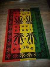 Hanf Cannabis Wandbehang Tagesdecke Strandtuch Bedcover ca. 190x1,32cm