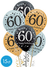 Amscan Sparkling Celebration 60 30cm Latex Balloons (6 Ct). Included